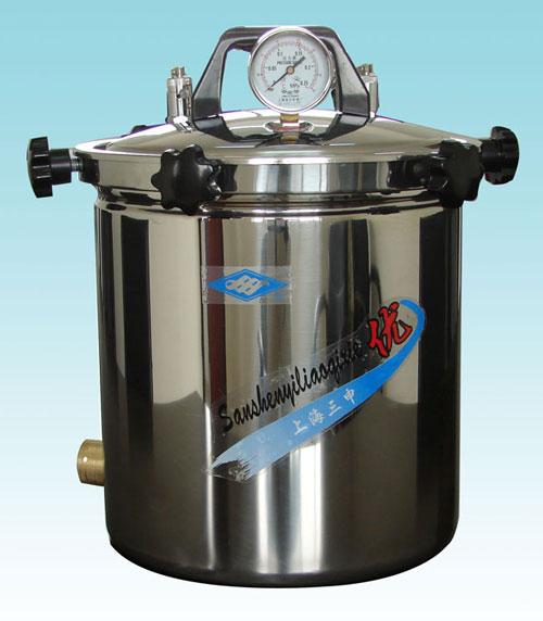 YX-280B手提式不锈钢压力蒸汽灭菌器(防干烧、煤电两用)