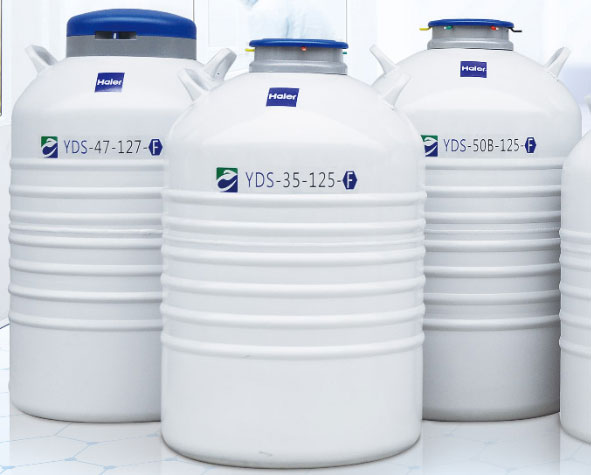 YDS-35-125-F 铝合金实验室系列铝制液氮罐生物容器