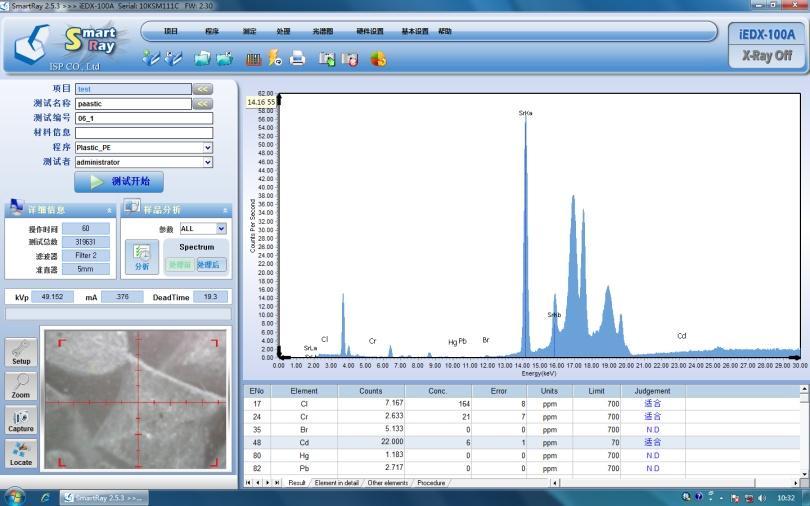100A分析软件主界面