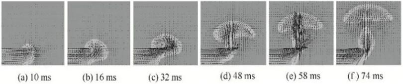 图7侧吹方式下管口处气液流场速度矢量图.png