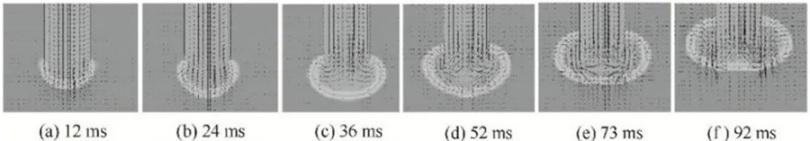 图8 顶吹方式下管口处气液流程速度矢量图.png