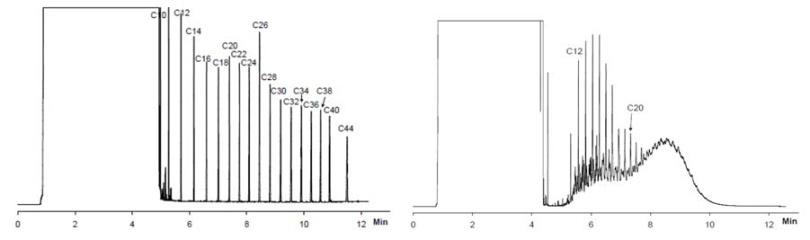 使用程序升温的大体积进样方式分析总石油烃